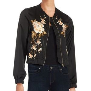 DESIGN LAB Embroidered Bomber Jacket NWT